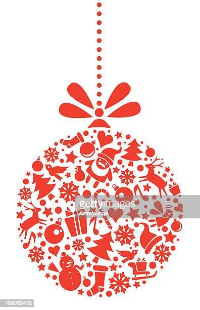 クリスマスのクリスマスオーナメント - クリスマスマーケット点のイラスト素材/クリップアート素材/マンガ素材/アイコン素材