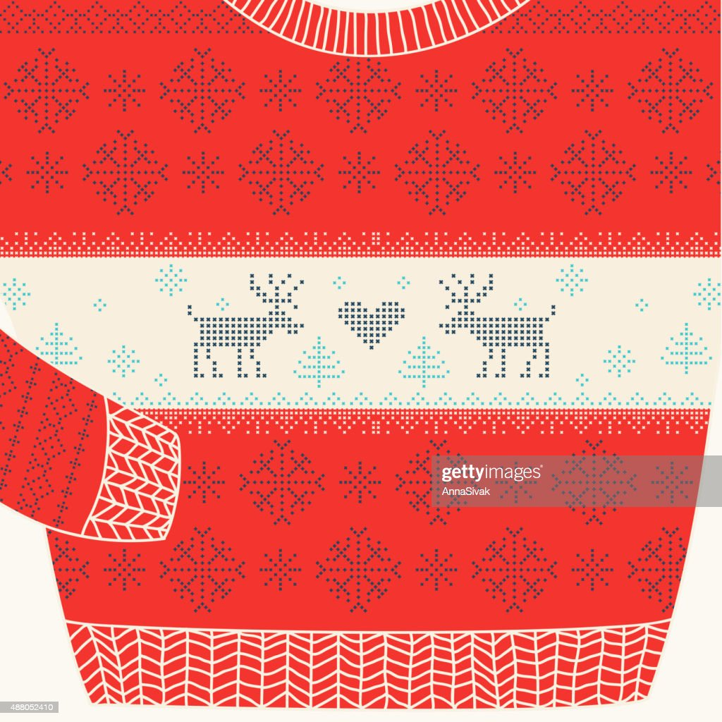 Christmas Ornamental Sweater - Ugly Party Sweater