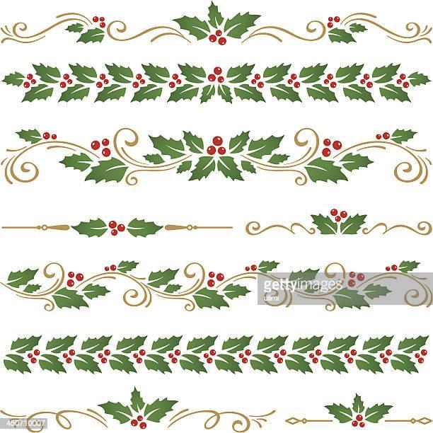 クリスマスの飾り - ヒイラギ点のイラスト素材/クリップアート素材/マンガ素材/アイコン素材