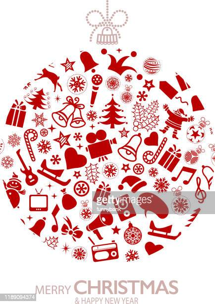 christmas ornate ball - christmas music stock illustrations