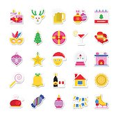 Christmas, Party and Celebration Colored Vector Icons 2