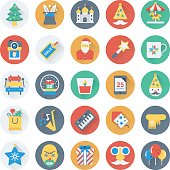 Christmas, Party and Celebration Vector Icons 8
