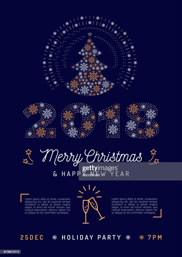 Christmas Party Flyer Urlaub 2018 Druckbare Einladung Frohe ...