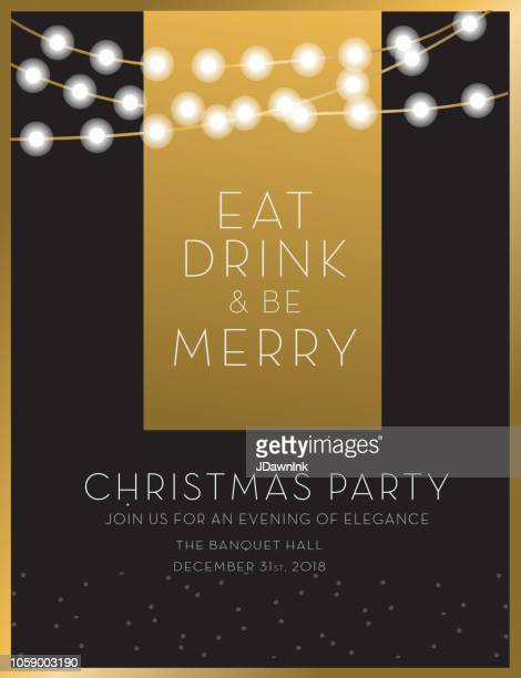 christmas party invitation design template - invitation stock illustrations