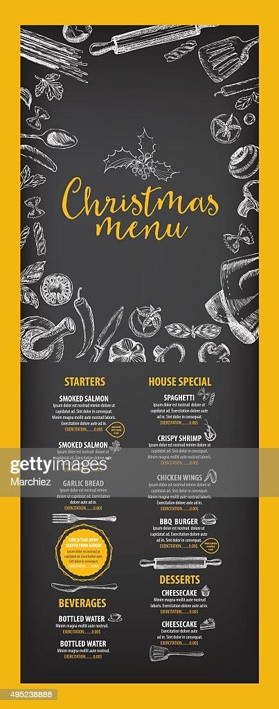 Christmas party invitation restaurant food flyer vector art getty christmas party invitation restaurant food flyer vector art stopboris Images