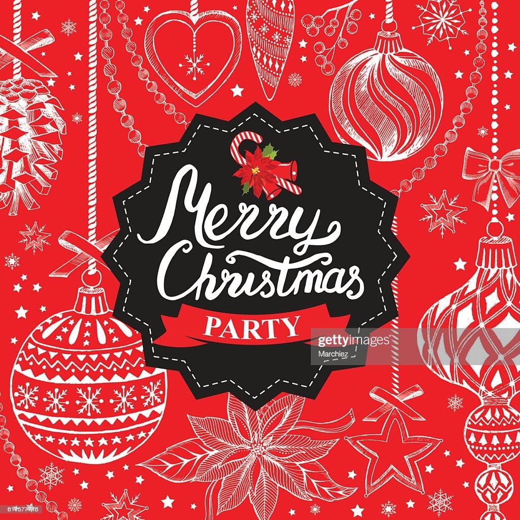 christmas party invitation restaurant food menu vector art
