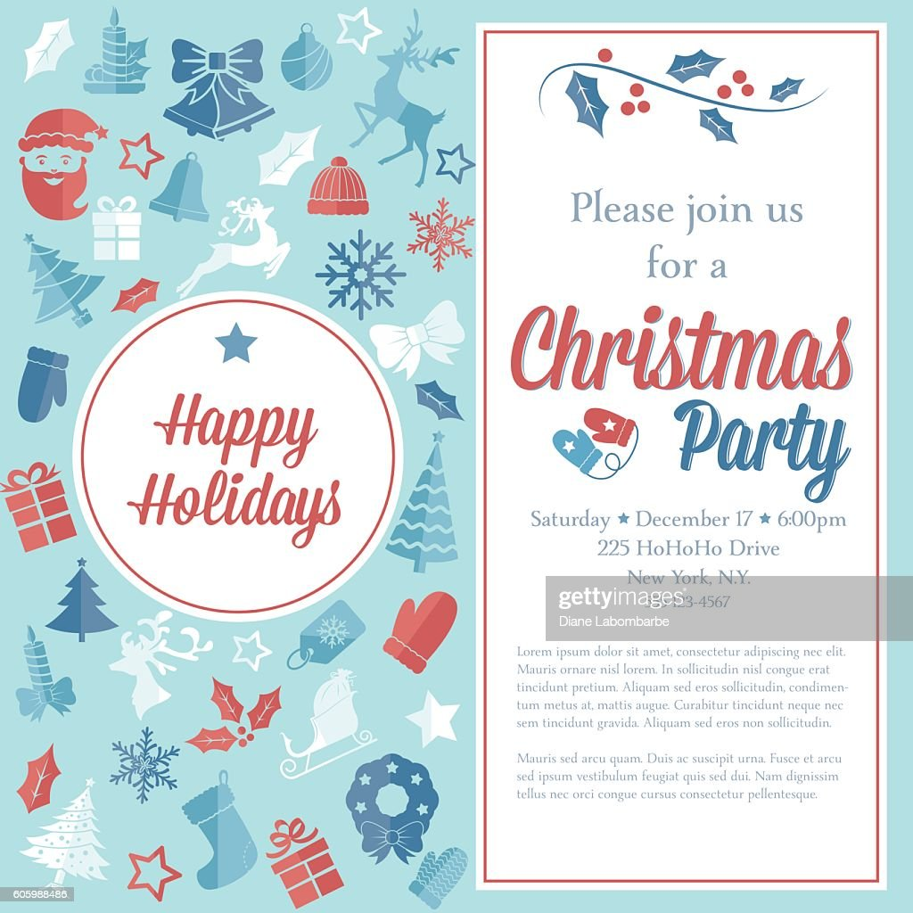 christmas party invitation template ベクトルアート getty images