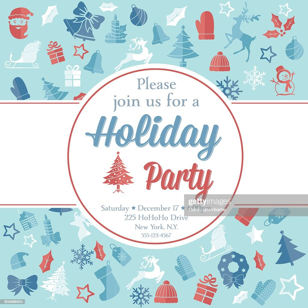 Christmas Party Invitation Template Vector Art | Getty Images