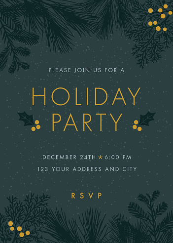 Christmas party invitation. - gettyimageskorea