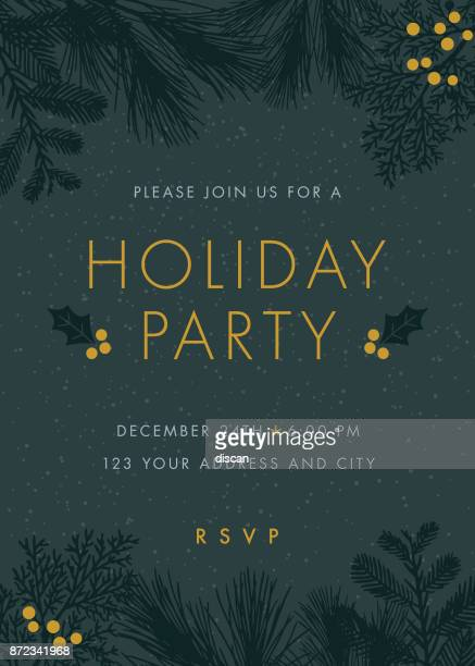 christmas party invitation. - event stock illustrations