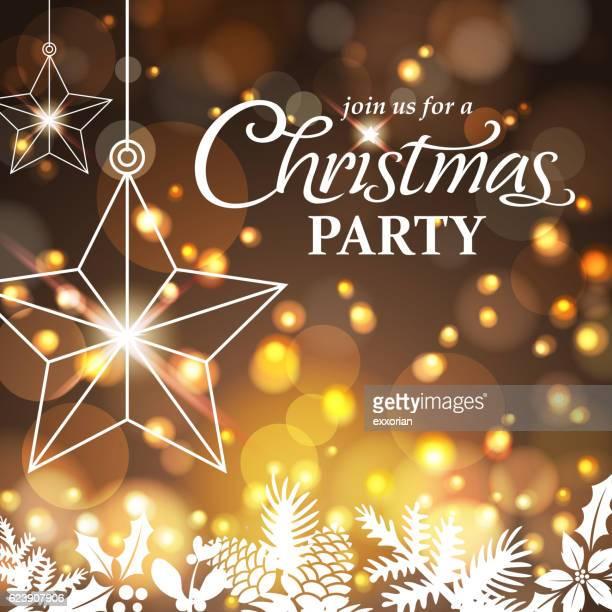 ilustraciones, imágenes clip art, dibujos animados e iconos de stock de christmas party night - flor de pascua