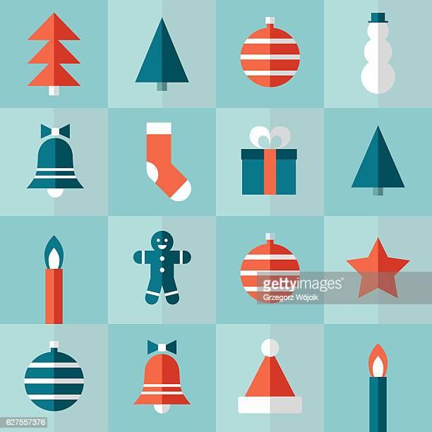 christmas pattern - flat vector pattern