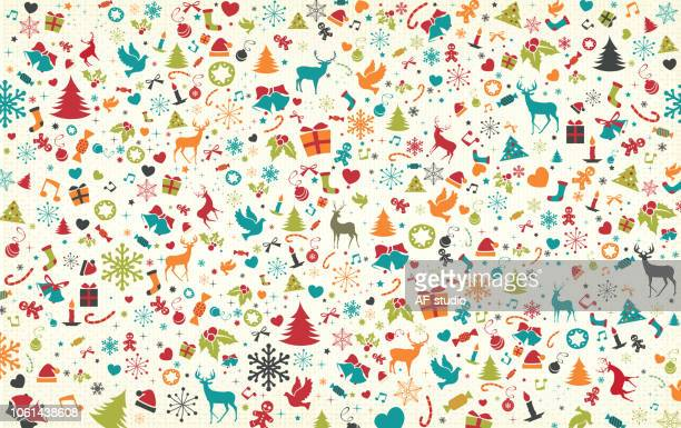 christmas pattern - national holiday stock illustrations