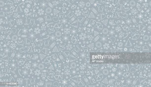 christmas pattern - gingerbread man stock illustrations