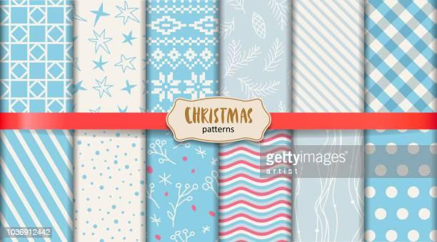 クリスマスのパターン - ジャージ素材点のイラスト素材/クリップアート素材/マンガ素材/アイコン素材