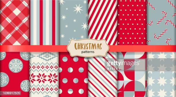 ilustraciones, imágenes clip art, dibujos animados e iconos de stock de patrones de navidad - golosina