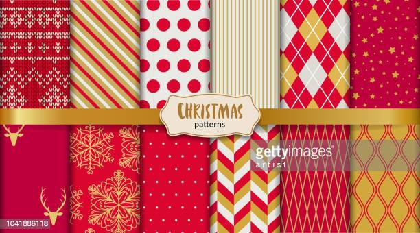 christmas patterns - christmas paper stock illustrations