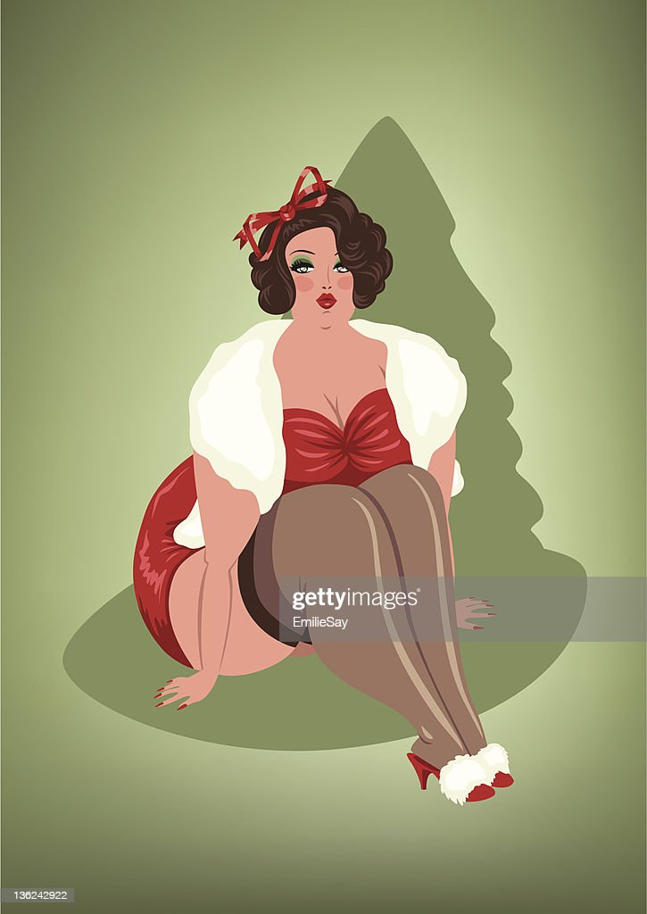 BBW Christmas Pin-Up