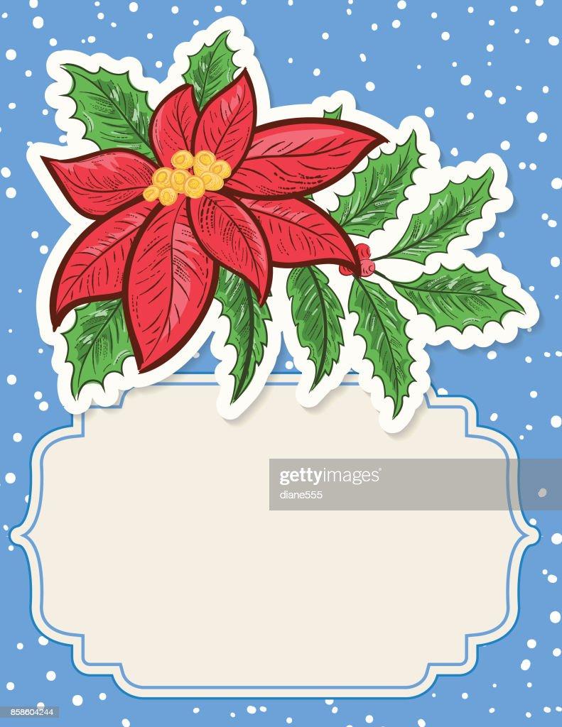 Weihnachten Weihnachtsstern Hintergrund : Stock-Illustration