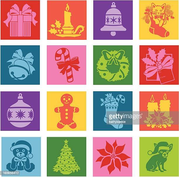 Noël pop art icônes