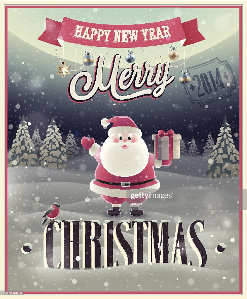 Christmas Poster with Santa.