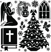 Christmas prayer design elements