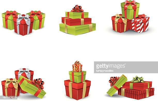 christmas presents - gift stock illustrations