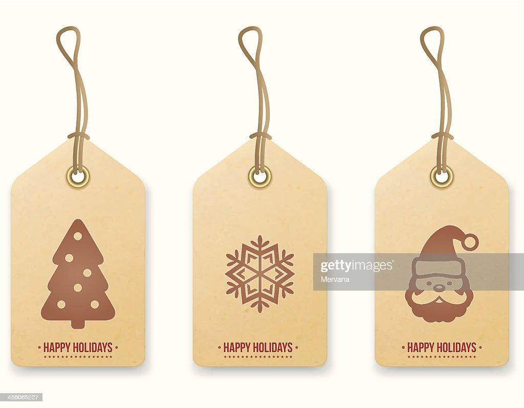Christmas price tag. Vector