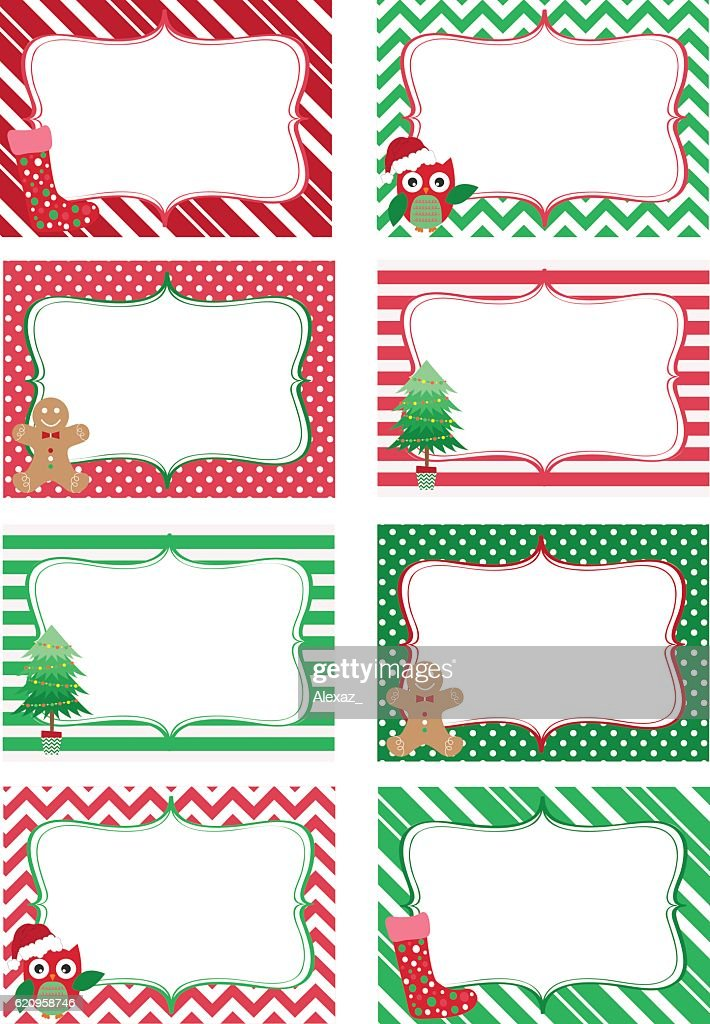 Christmas Printable labels Set.Photo Frame, Gift Tags,Invitation