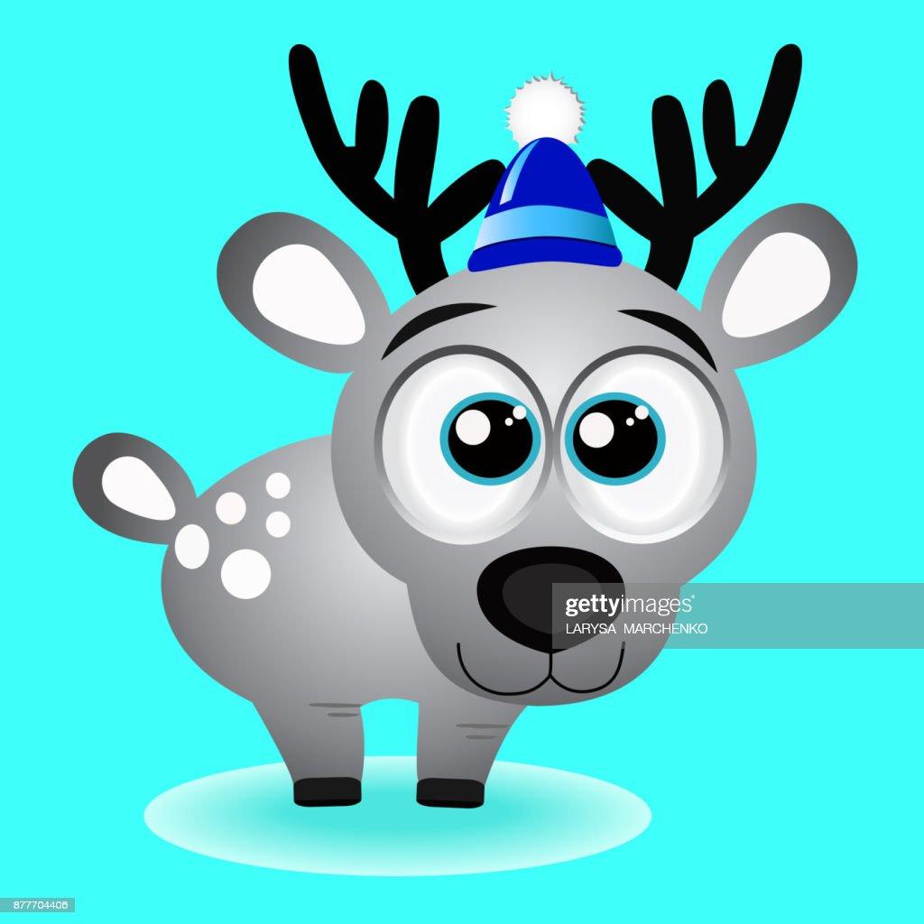 Christmas Reindeer. Christmas card.