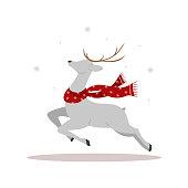 christmas reindeer scarf cute deer with