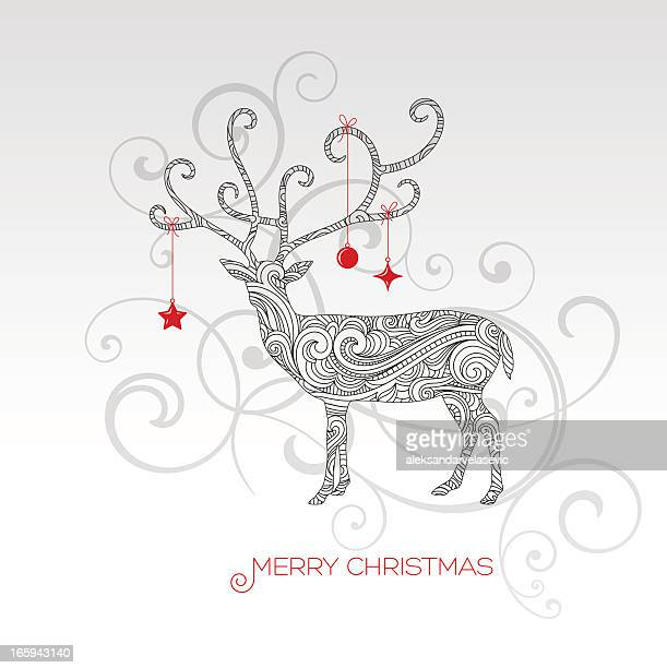 christmas reindeer - national holiday stock illustrations, clip art, cartoons, & icons