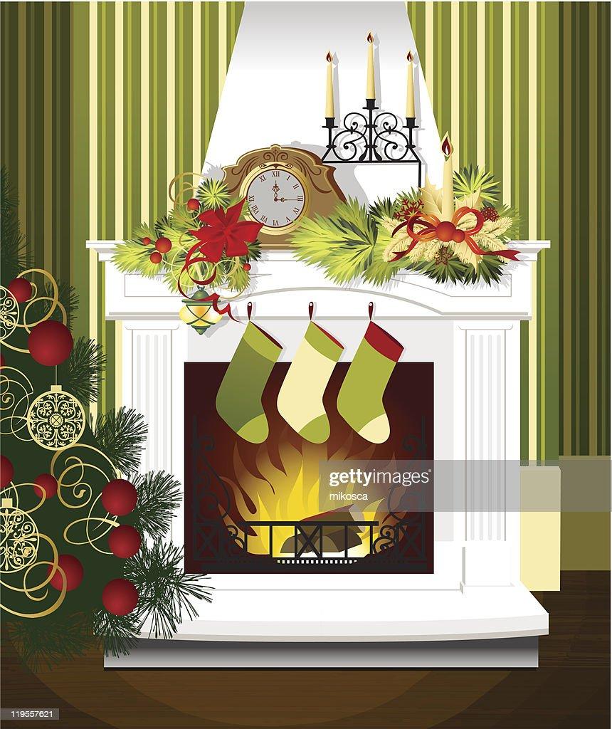 Weihnachtszimmer Vektorgrafik   Getty Images