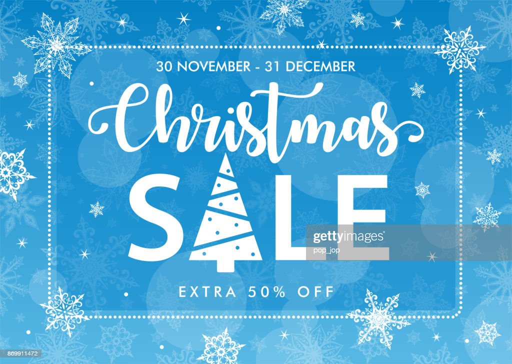 クリスマス セール 青い背景テンプレート バナー ベクトルアート getty