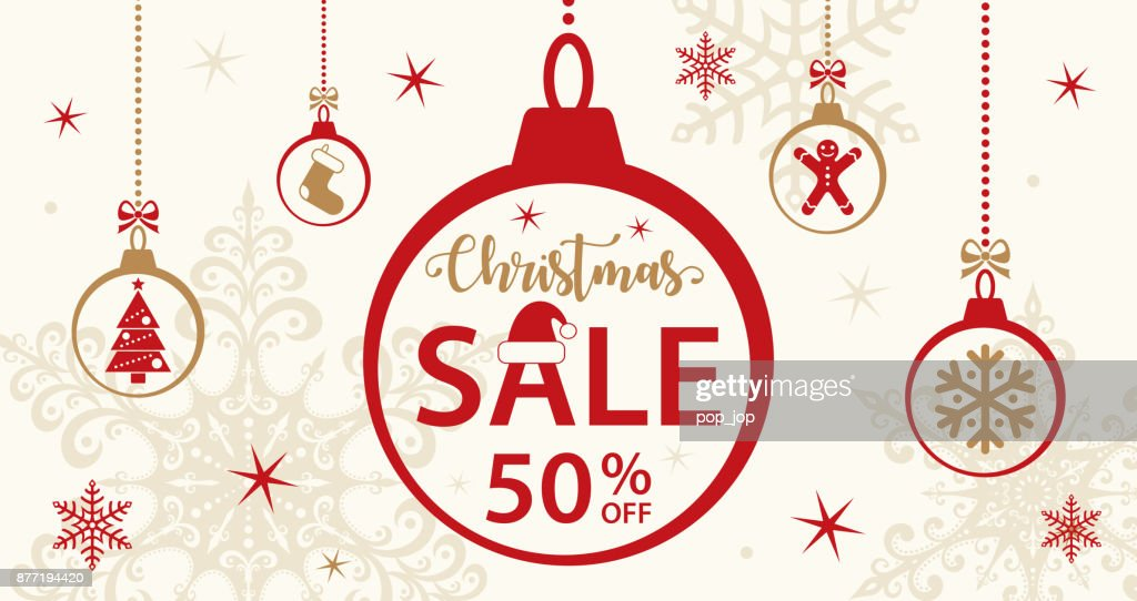Christmas Sale Card Template - Vector : stock illustration