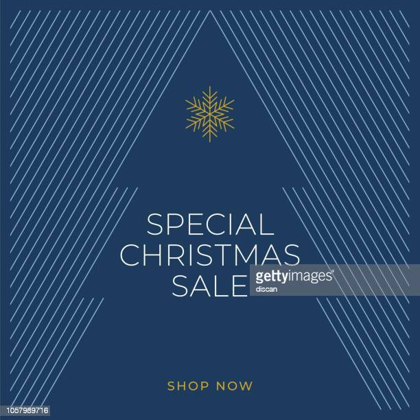 christmas sale design for advertising, banners, leaflets and flyers - christmas tree stock illustrations