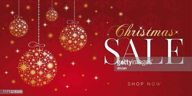 christmas sale design for advertising, banners, leaflets and flyers. stock illustration - panoramic stock illustrations