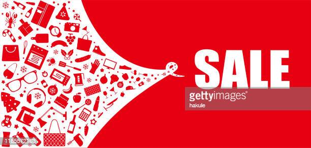 christmas sale design for advertising, banners, leaflets and flyers, vector illustration - group of objects stock illustrations