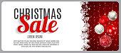 Christmas Sale, Discount Voucher Banner Background. Business Discount Card. Vector Illustration