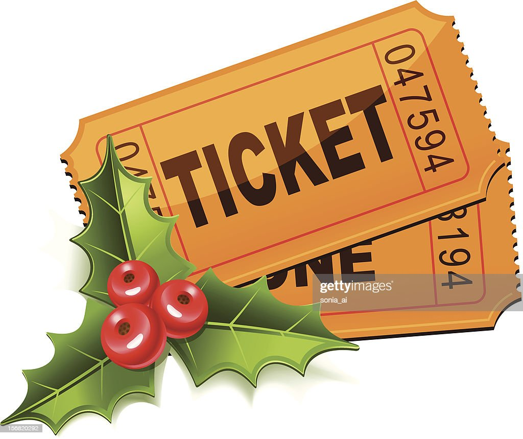 Christmas Sale. Tickets with the mistletoe