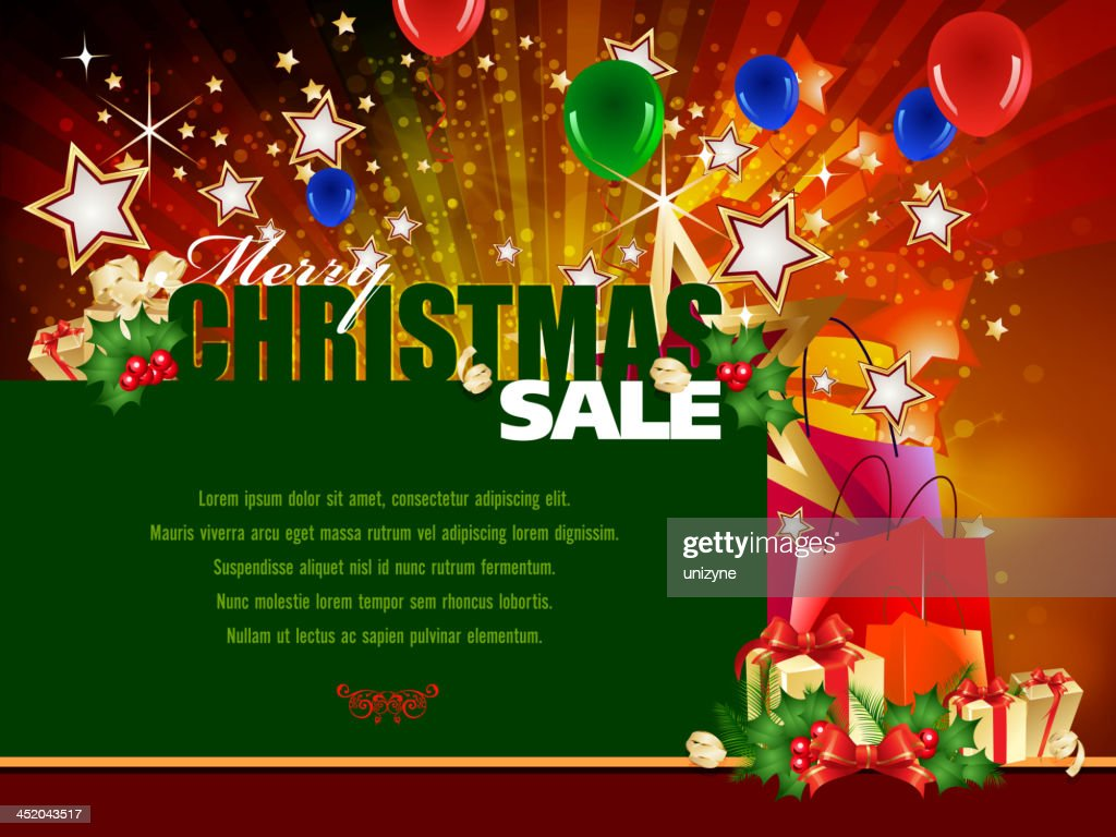 christmas sales promotions background vector art - Christmas Eve Sales