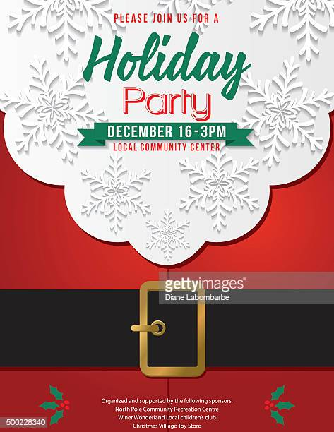 Christmas Santa Claus Beard and Belly Holiday Party Invitation