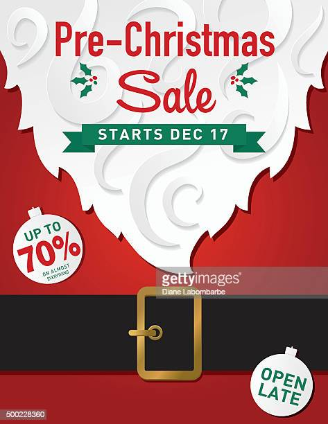 Christmas Santa Claus Beard and Belly Sale Ad