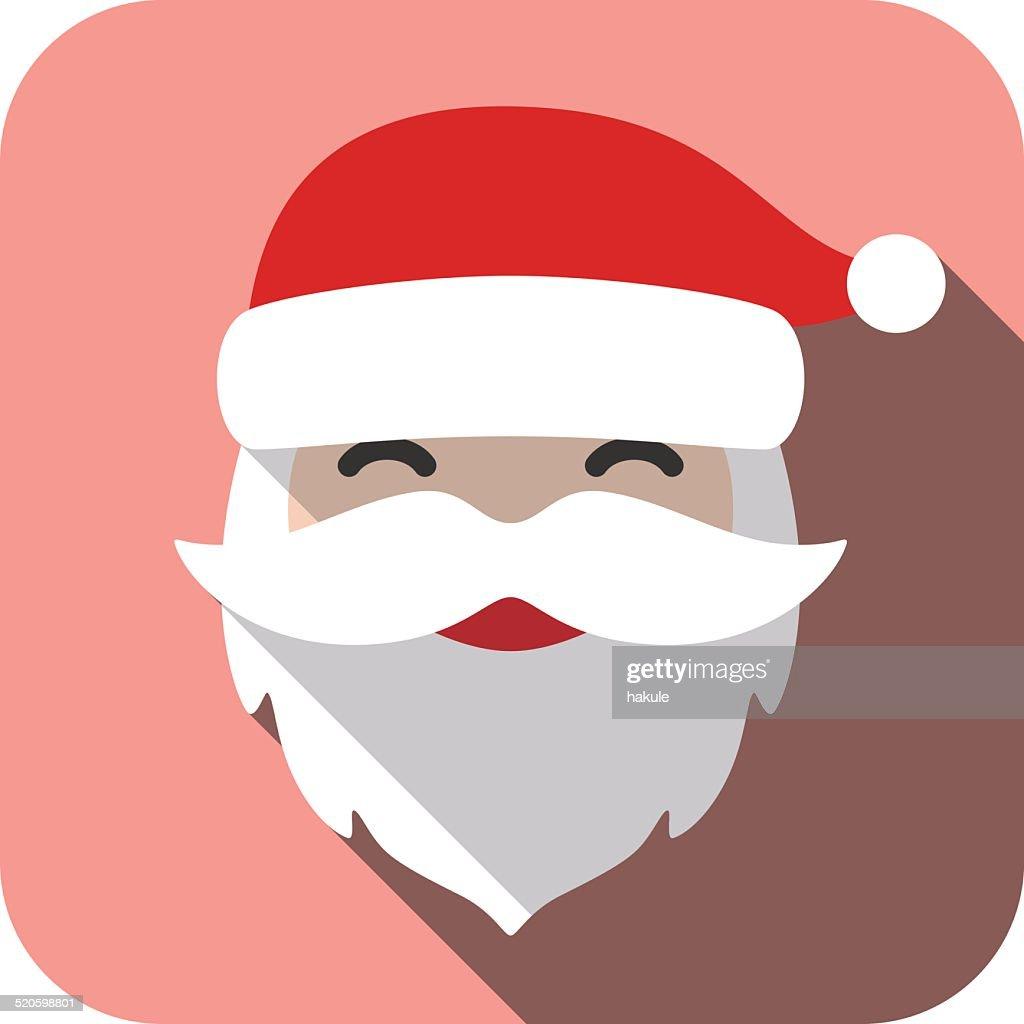 Christmas Santa Claus flat icon : stock illustration