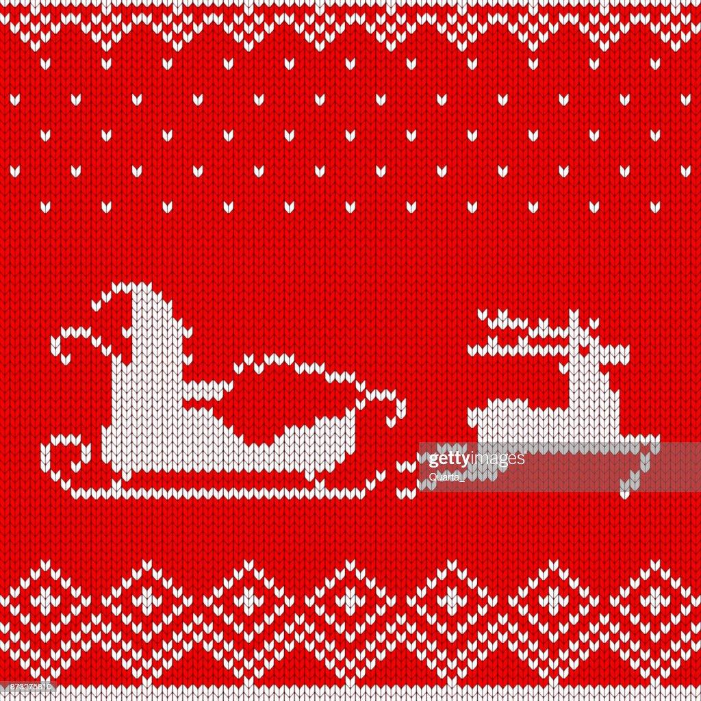 2018 christmas santa pattern red