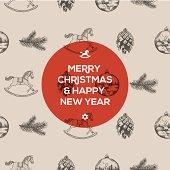 Christmas seamless hand-drawn pattern
