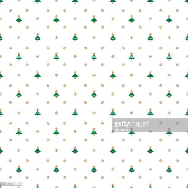 クリスマスシームレスパターンクリスマスツリーストックイラスト - 期間限定ショップ点のイラスト素材/クリップアート素材/マンガ素材/アイコン素材