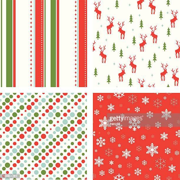 christmas seamless pattern - reindeer stock illustrations