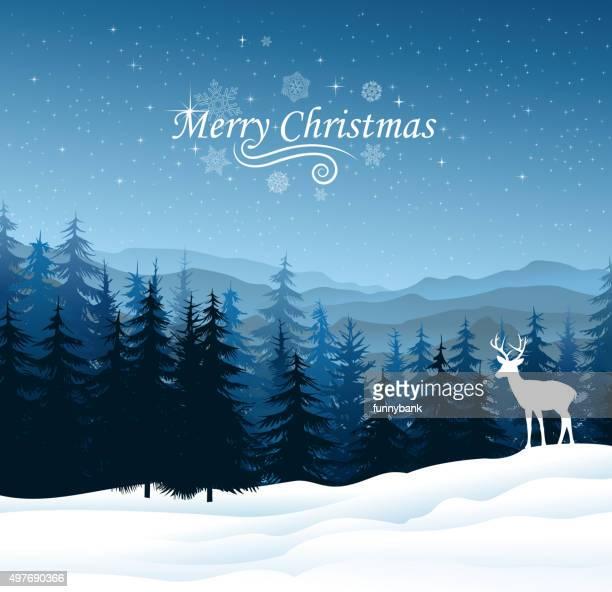 christmas season - hill stock illustrations, clip art, cartoons, & icons