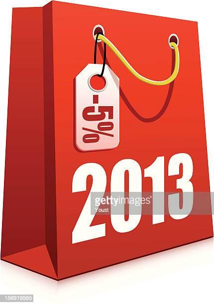 christmas shopping bag - goodie bag stock illustrations, clip art, cartoons, & icons